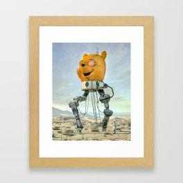 WOKE POOH Framed Art Print