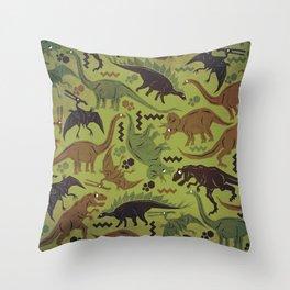 Camouflage Dinosaur Geometric Pattern Throw Pillow