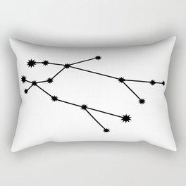 Gemini Star Sign Black & White Rectangular Pillow