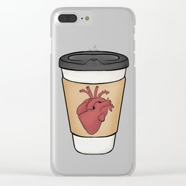 Heart On My Sleeve Clear iPhone Case