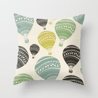 balloons Throw Pillows featuring Balloons by spinL