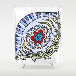 Pop Eye (Red) Shower Curtain