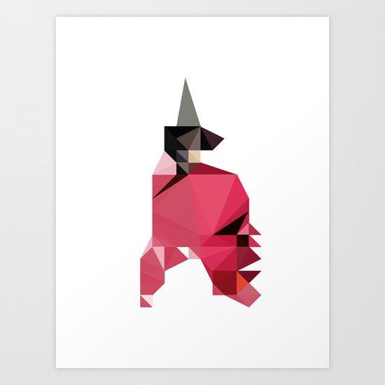 Horse. Art Print