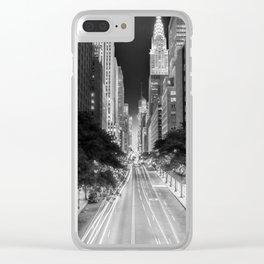 42nd street Manhattan at dawn Clear iPhone Case