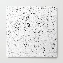Chaotic circles pattern. Black & White. Metal Print