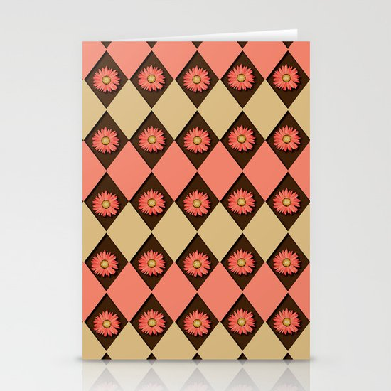A Peachy Argyle Stationery Cards