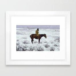 Frederic Remington - The Herd Boy, 1910 Framed Art Print