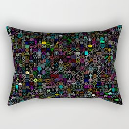 Icons Overdrive Multicolor (Black) Rectangular Pillow