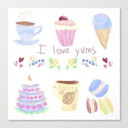 Yums Canvas Print