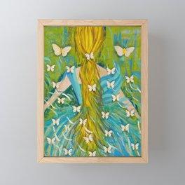 The Butterfly Girl Framed Mini Art Print