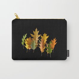 Variety coloured autumn oak leaves Carry-All Pouch