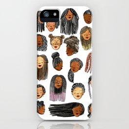Braids and Locs iPhone Case