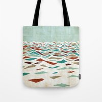 minimal Tote Bags featuring Sea Recollection by Efi Tolia