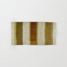 """Burlap Texture Greenery Columns"" Hand & Bath Towel"
