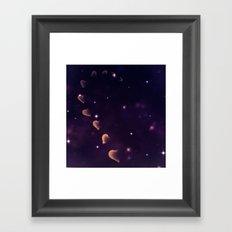 Cosmos Hart of Harts Half Yellow-Orange and Purple Framed Art Print