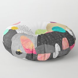 Little Land of Pebbles Floor Pillow