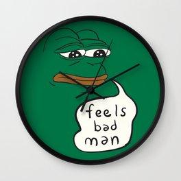 Feels Bad Man - Pepe the frog Wall Clock