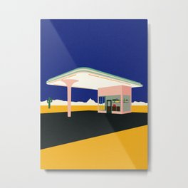 Texas Desert Gas Station Metal Print