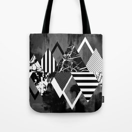 STAND OUT! In Black And White - Abstract, textured geometry! Tote Bag