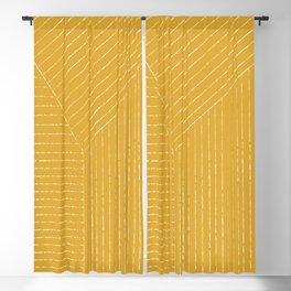 Lines (Yellow) Blackout Curtain