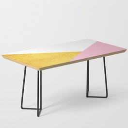 Gold & Pink Geometry Coffee Table