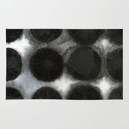 WATERCOLOUR DISCS: Black Spinel Rug