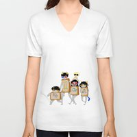 homestuck V-neck T-shirts featuring Homestuck: The Boxtrolls by Techno Cide