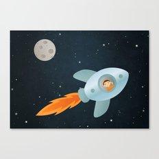 Kid Astronaut Canvas Print