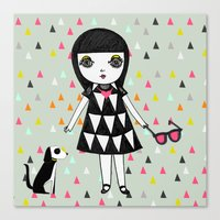 She loves her eames.  Canvas Print
