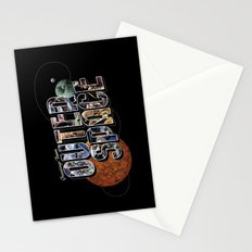 Greetings From Outer Space (color 01) Stationery Cards