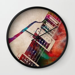 guitar art 7 #guitar #music Wall Clock