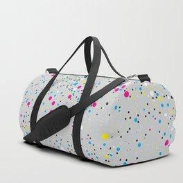 Chaotic circles pattern. Confetti #3 Duffle Bag