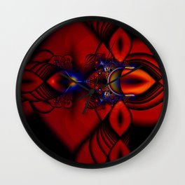 Ruby Abstract Stained Glass Window Wall Clock