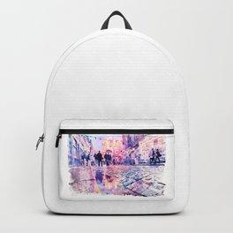Dublin Watercolor Streetscape Backpack
