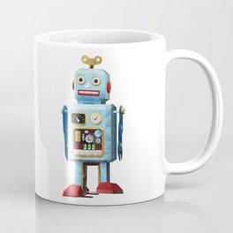 Retro Tin Toy Robot Polygon Art Coffee Mug