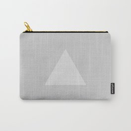 Gray Triangle Carry-All Pouch