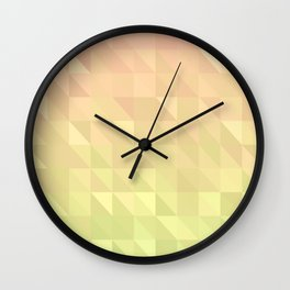 Pink and Green - Flipped Wall Clock