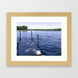 Running off the Dock Framed Art Print