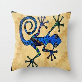 Bowie Gecko Throw Pillow