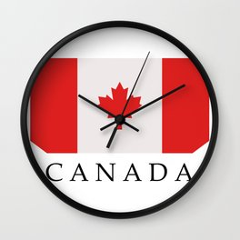 flag canada Wall Clock