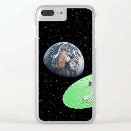 Alien Invasion Clear iPhone Case