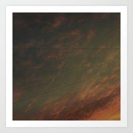 Bury Sky 3 (Colour Manipulation) Art Print