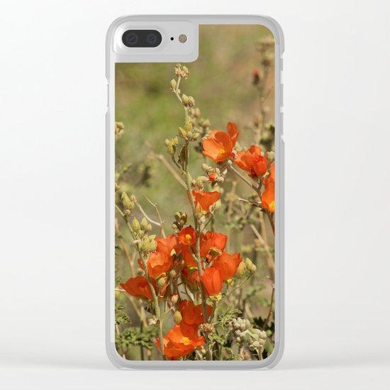 Desert Wildflower - 4 Clear iPhone Case