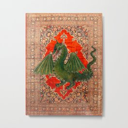 Green Dragon - Garden of Beasts Collection Metal Print