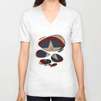 captain silva V-neck T-shirts featuring CAPTAIN by karakalemustadi