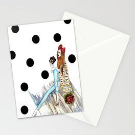 Dots & bow Stationery Cards