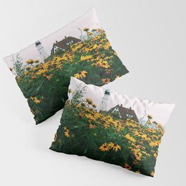 Portland Headlight and Flowers Pillow Sham
