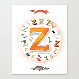 The Quick and the Zed Canvas Print