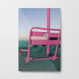 Pop Art 80's Chair Lift Metal Print