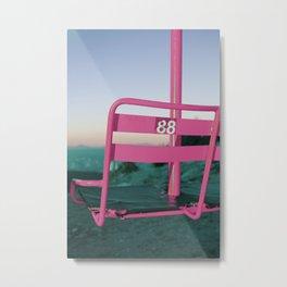 Pop Art 80's Chair Lift Metal Print